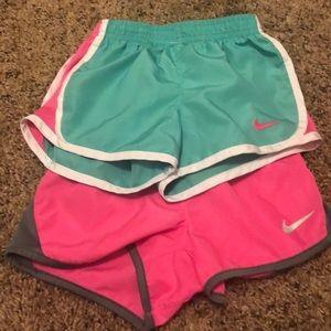 2 pair 3t Nike shorts